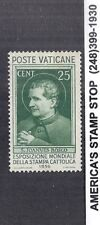 1936 Vatican City SC 49 MH Mint Hinged - Catholic Press Conference