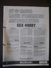 SUZUKI GSX-R600Y Set Up Manual GSX R600 Y Set-Up 99505-01108-01E Motorcycle