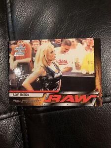 Trish Stratus Raw Smackdown Fleer Card # 47 2002 Signed Card