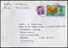 Indonesia 1986 Commercial Air Mail Cover To England #C30394