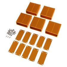 5Pcs Extruded Aluminum Box Enclosure Case for Projector AMP DIY 45x19x45mm