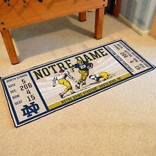 """Notre Dame Fighting Irish 30"""" X 72"""" Ticket Runner Area Rug Floor Mat"""