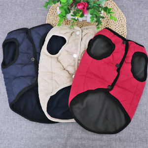 Winter Dog Coat for Small Dogs French Bulldog Pet Vest Jumper Jacket Warm Coats
