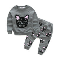 2PCS Kids Baby Girls Clothes Outfits T-shirt Tops Tracksuit + Pants Leggings Set
