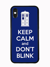 Tardis Keep Calm And Don't Blink For iPhone XS (2018) / iPhone X (2017) Case