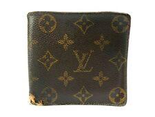 Authentic LOUIS VUITTON Monogram Wallet Bi-fold M61675 Marco Men's LV