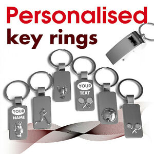 Personalised Keyring engraved with text, name * 02 * GIFT * football