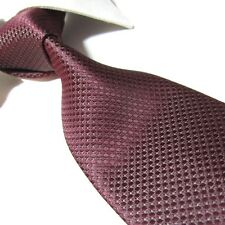 """Extra Long Polyester Tie,Burgundy Solid Mens XL Necktie Woven Jacquard PL348 63"""""""