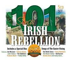 101 SONGS OF IRISH REBELLION - 5 CD SET 1916 - 2016 FREE UK P&P