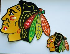"""(1) NHL 7 1/2"""" X 7"""" CHICAGO BLACKHAWKS PATCH (FOR BACK OF JACKET) + SHIRT PATCH"""