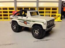 "1/64 72 Ford Bronco 4X4 in Satin Sand/Black Int and Off-Road Tires& 3"" Lift Kit"