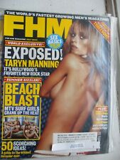 TARYN MANNING MTV SURF GIRLS BABEWATCH TRIPLETS TRAVIS BARKER 2003 FHM MAGAZINE