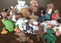 Original Beanie Babies Lot Ty Inc., 20 Collectible Stuffed Animals, 1990s