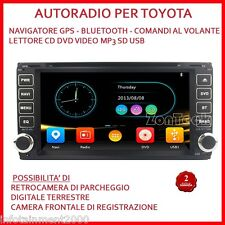 "AUTORADIO 7"" TOYOTA RAV4 COROLLA TERIOS NAVIGATORE GPS DVD MP3 COMANDI VOLANTE"