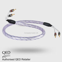 1 x 1.0m QED GENESIS SILVER SPIRAL Speaker Cable AIRLOC Forte Plugs Terminated