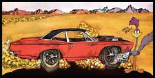 """Plymouth Roadrunner """"Car Of The Year"""" Vinyl 2'x4' Banner.  Classic Ad"""