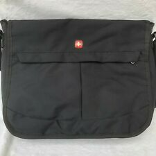 Swiss Gear Laptop Messenger Travel Bag- Black with Front Flap