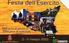 G 1646 148 C&C 3728 SCHEDA TELEFONICA USATA FESTA DELL' ESERCITO