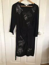 diane von furstenberg Black Embelished Dress Size 12
