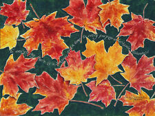 """""""Autumn Leaves"""" 8x10 double-matted Watercolor Art Print by artist, Julie Hammer"""