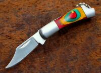 """Traditional 2.5"""" Pocket Folding Small Mini Keychain Stainless Steel Knife"""