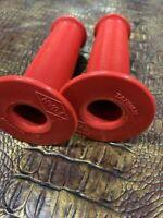 PAIR NOS FUAN VINTAGE OLD SCHOOL MUSHROOM DESIGN GRIPS RED FOR REDLINE OR GT