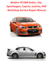 VF Commodore Ute Wagon Caprice HSV Chev SS Genuine Holden Workshop Manual PDF