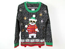 Nwt $50 United States Sweaters Sz S Sequins Pom Poms Polar Bear Holiday Sweater