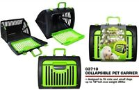 """Folded Portable Collapsible Pet Carrier For 12"""" Cats & Small Dogs,Rabbit (Green)"""