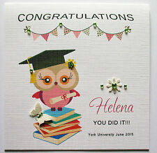 personalised Female Graduation Day Card
