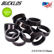 11PCS Bicycle Headset Spacer Carbon Fiber Headset Washer Stem Front Fork Spacers