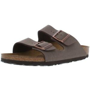 Birkenstock Womens Arizona BS Taupe Leather Footbed Sandals Shoes 38 BHFO 9179