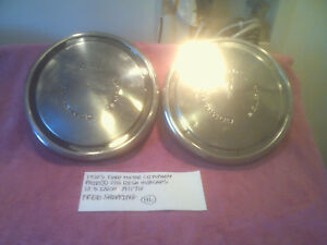 1970'S FORD MOTOR COMPANY PAIR 2 DOG DISH HUBCAPS 10.5 INCH A11710 FREE SHIPPING