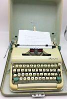 Olympia-Olivetti Great Working Manual Typewriter w/Case c.1962