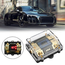 Led Display 1x0 In 2x4Ga Out Distribution Block Fuse Holder Fit Car Audio Marine