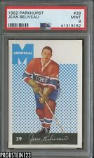1962 Parkhurst Hockey #39 Jean Beliveau Montreal Canadiens HOF PSA 9 MINT