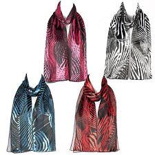 Chiffon Satin Ladies Womens Geometric Design Scarf Shawl Wrap
