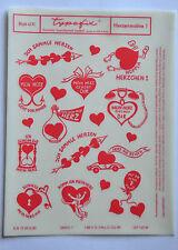 DDR Kult Typofix Haftdruckabreibfolie Saalfeld Rubbelbilder 4171 Herzenmotive 1