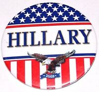 2008 HILLARY CLINTON campaign pin pinback button political presidential election