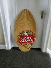 Body Glove Skim Surf Surfing Water Boogie Board Laminated Stella Wood 37 x 19.75