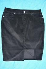 Katies Quality Skirt Jeans Style Size 14 Black Cord Skirt Stretch