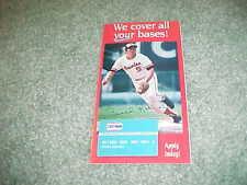 1992 Brooks Robinson Baltimore Orioles Crown Gas Baseball Ad Credit App