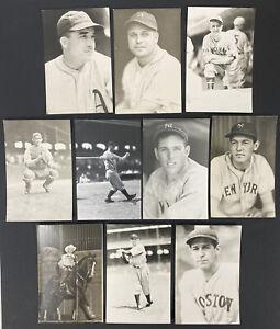 Lot of 10 George Burke/Brace Kodak Baseball Postcards Jimmy Foxx, Lou Gehrig MLB