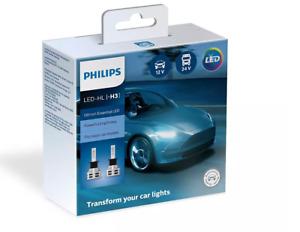 PHILIPS H3 LED Ultinon Essential Car Headlight Bulbs 6500K White