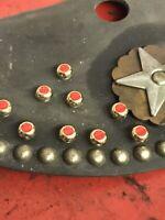 Nos Harley Knucklehead Panhead Wla Bobber seat Mudflap Saddlebag leather Trim 37