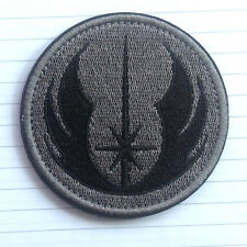 JEDI ORDER STAR WARS LOGO US MILITARY TACTICAL MORALE HOOK PATCH ACU GRAY DARK