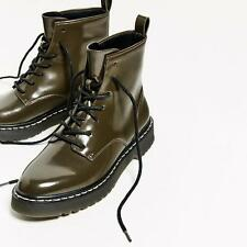 ZARA MILITARY STYLE ANKLE BOOTS SIZE UK 5 EUR 38 REF: 7180 101