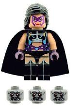 Custom Minifigure The Huntress Helena & 3 Zombie Heads Printed on LEGO Parts