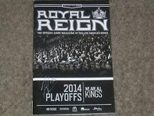 Tanner Pearson Autographed 2014 Playoffs LA Kings Commemorative Magazine   COA