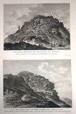 """Eau Forte de FRANCOIS NEE, """"Vue d'un rocher de basalte en Primes"""", d'aps LE MAY"""